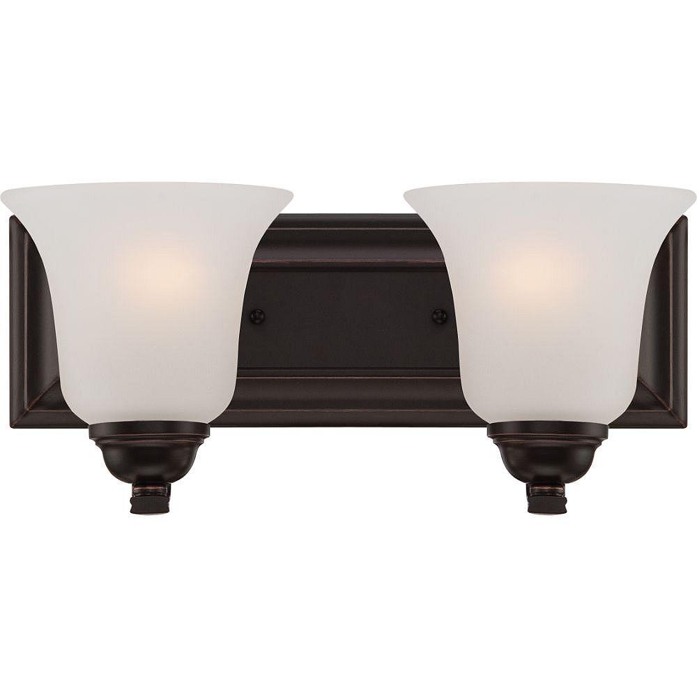 Filament Design Luminaire de meuble-lavabo à 2 ampoules Sudbury en bronze - 13,75 pouces
