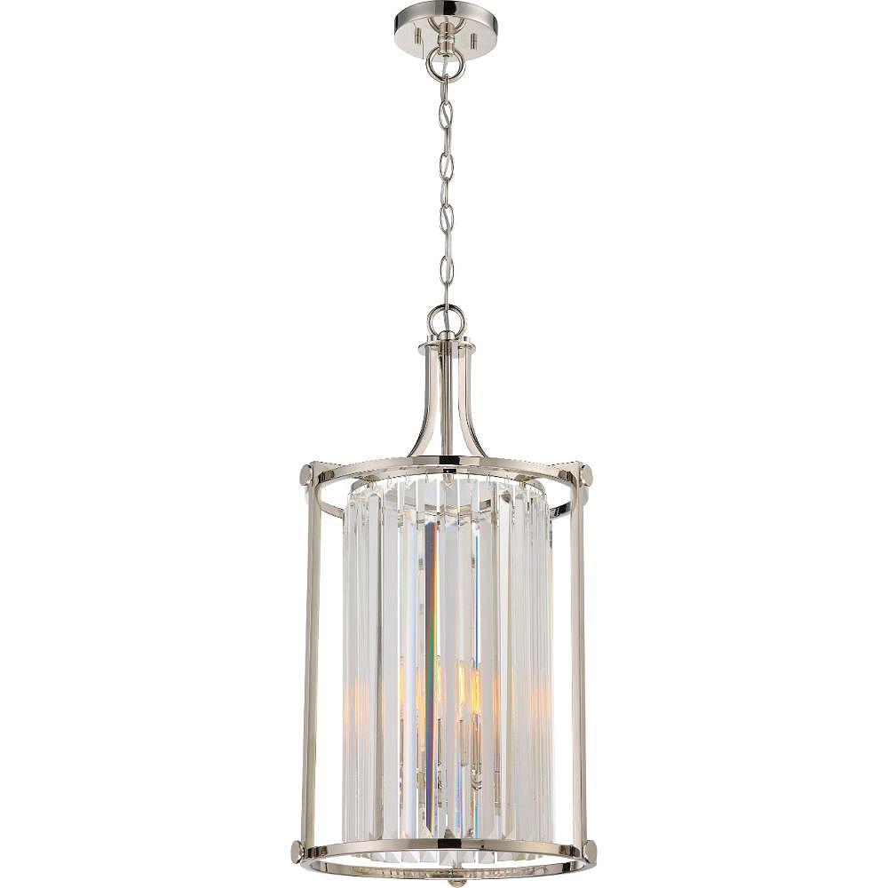 Filament Design 4-Light Polished Nickel Pendant - 26.25 inch