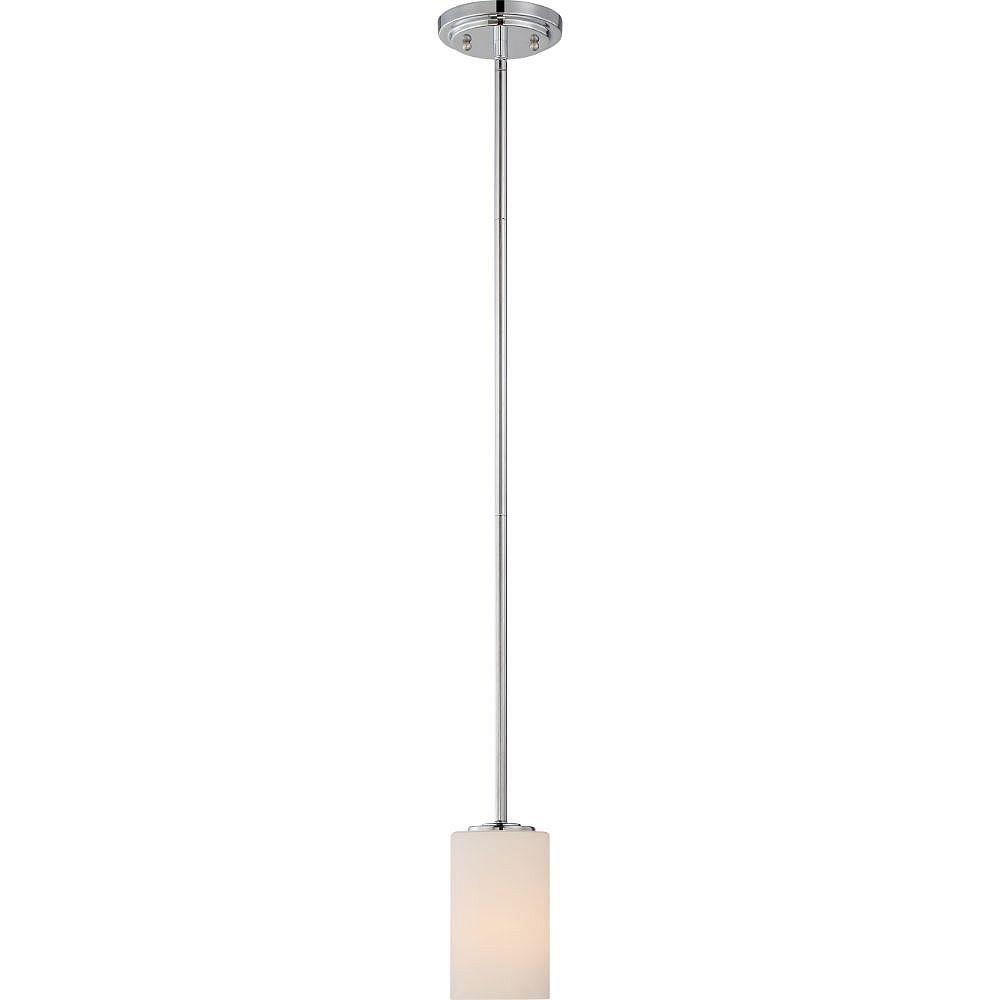 Filament Design Luminaire suspendu à 1 ampoule en nickel poli - 3,88 pouces