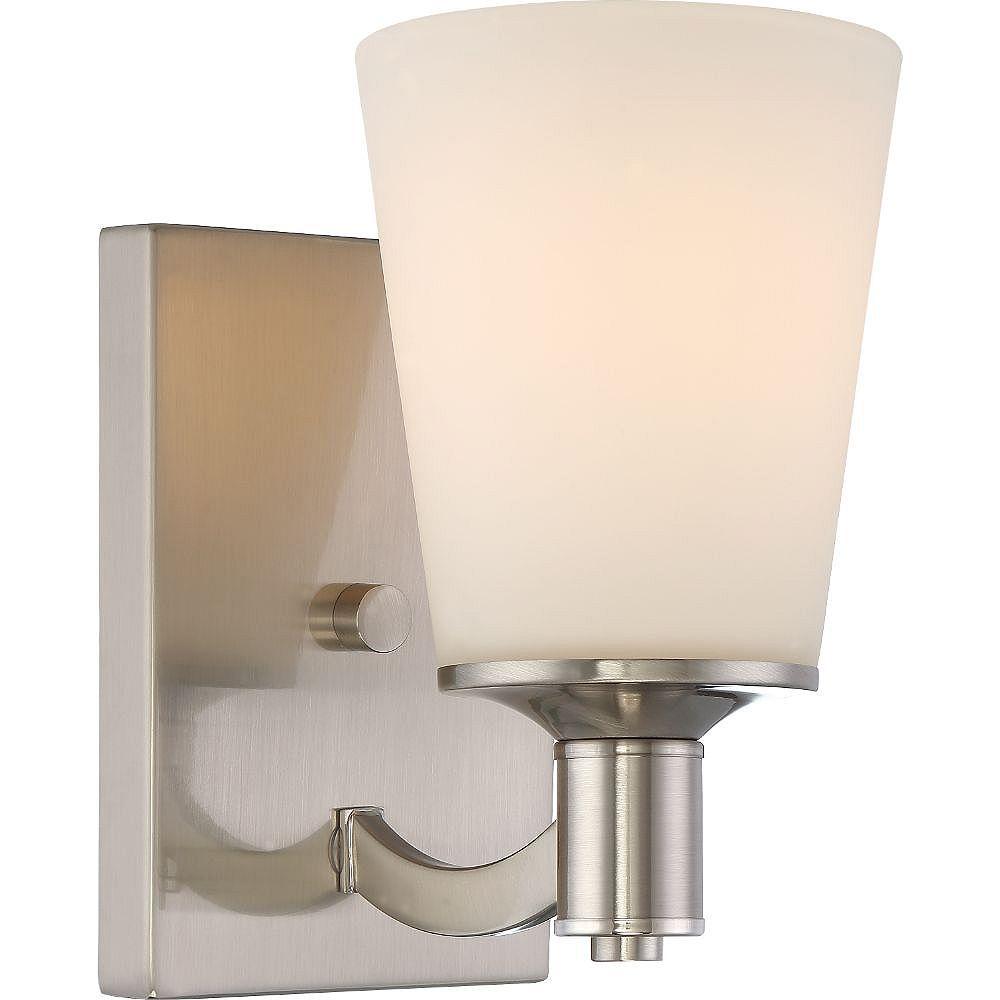Filament Design Applique de salle de bain à 1 ampoule en nickel brossé - 5,13 pouces
