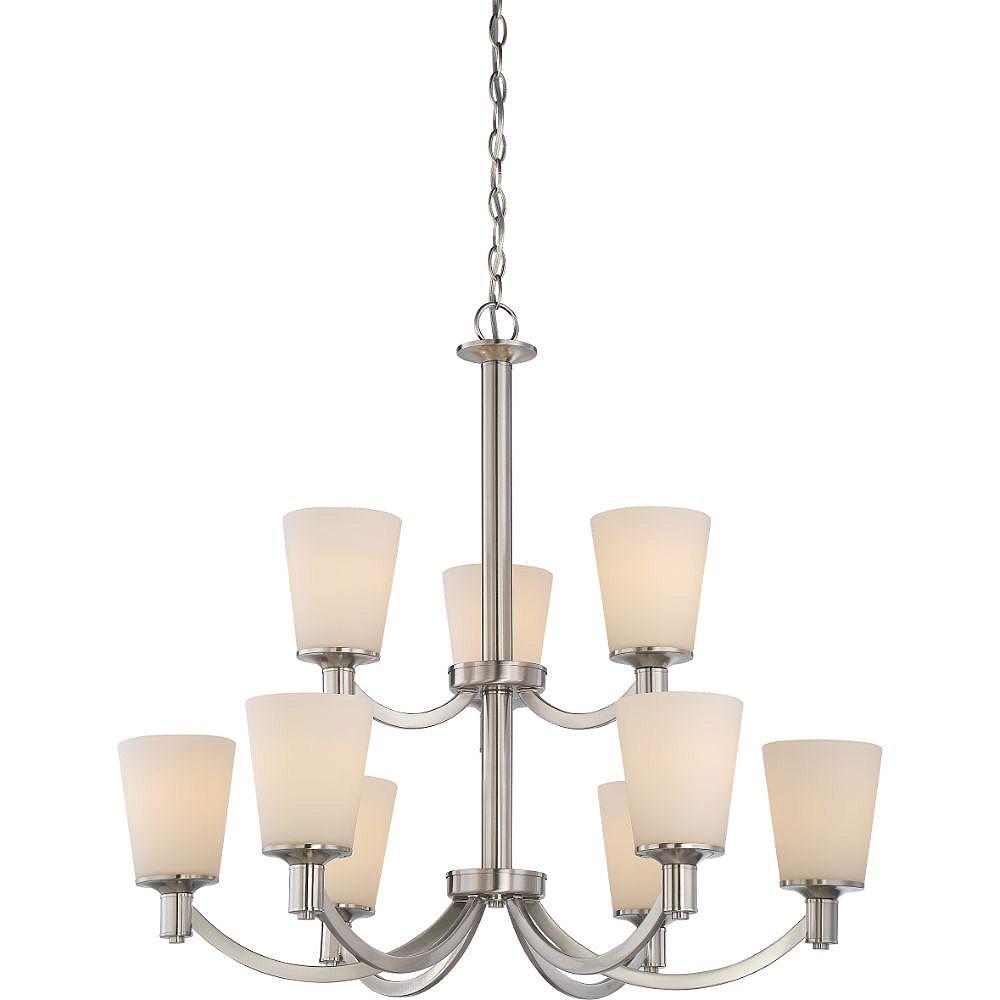 Filament Design 9-Light Brushed Nickel Chandelier - 27.75 inch