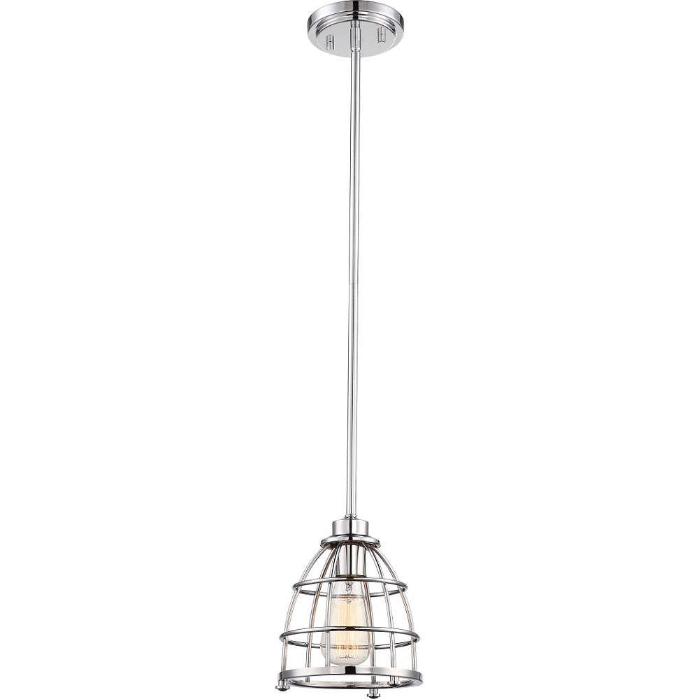 Filament Design Luminaire suspendu à 1 ampoule en nickel poli - 7,25 pouces
