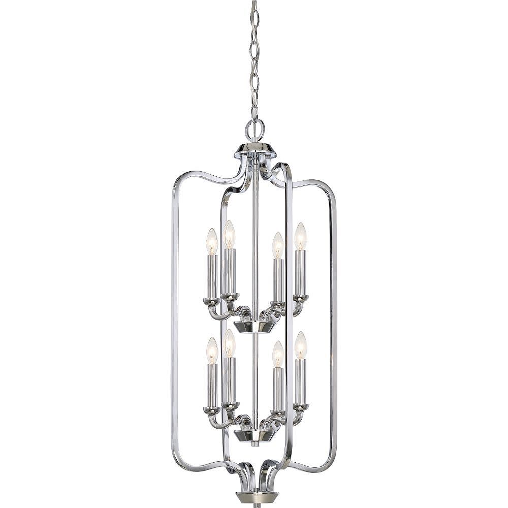 Filament Design 8-Light Polished Nickel Pendant