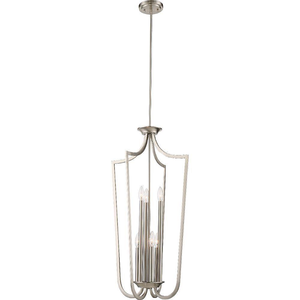 Filament Design 4-Light Brushed Nickel Pendant - 71 inch