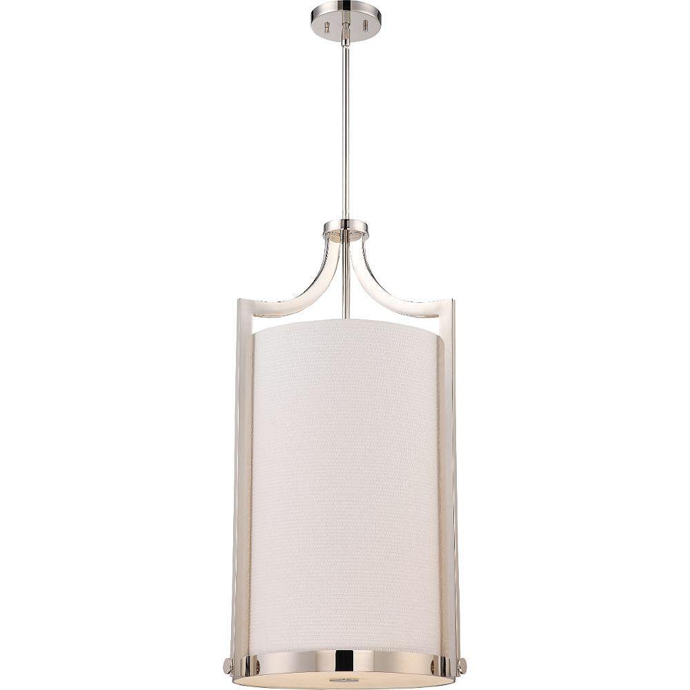 Filament Design Luminaire suspendu à 4 ampoules en nickel poli - 17 pouces