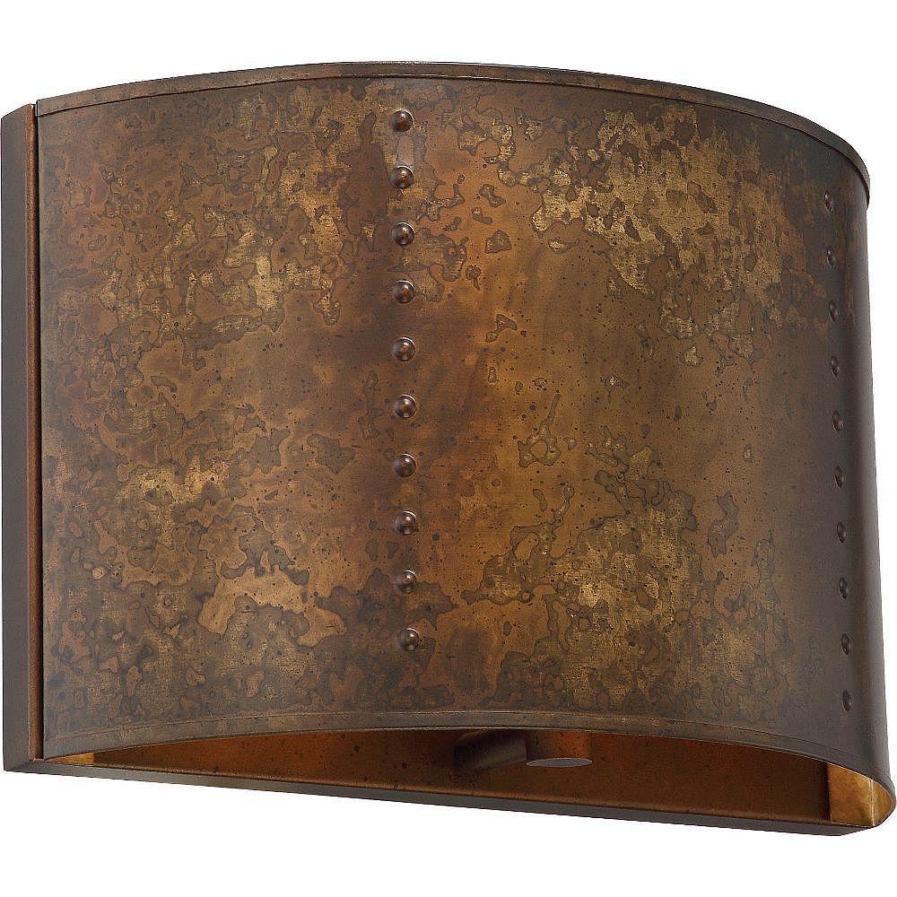 Filament Design 1-Light Weathered Brass Wall Sconce
