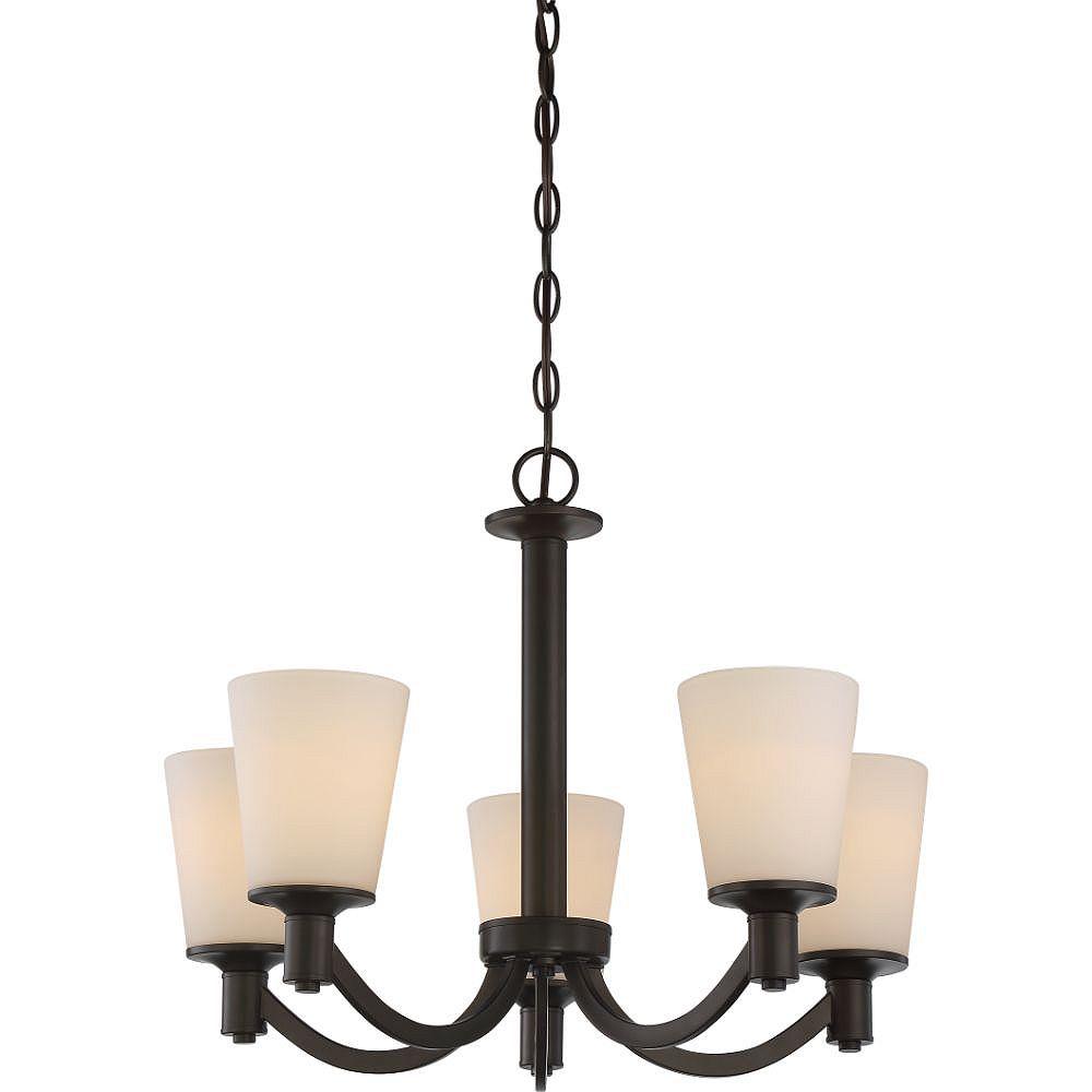 Filament Design Lustre à 5 ampoules en bronze forestier - 23 pouces