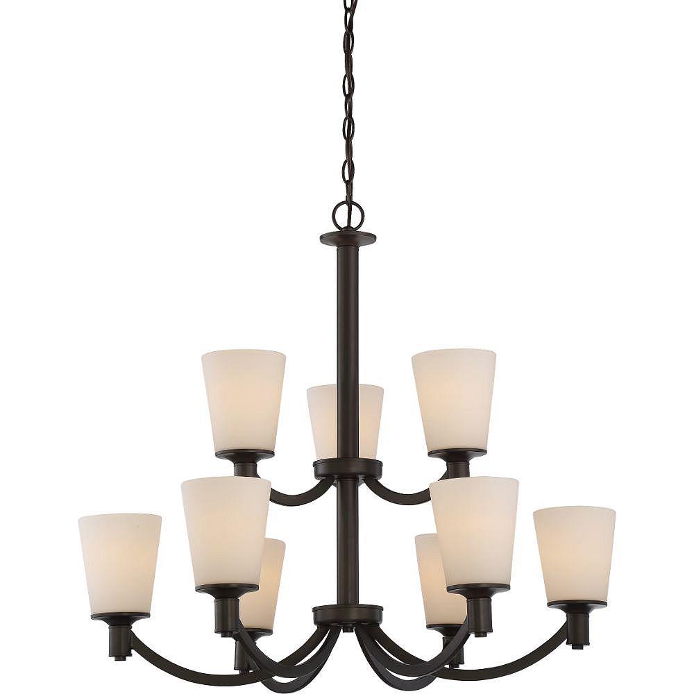 Filament Design Lustre à 9 ampoules bronze forestier - 31 pouces