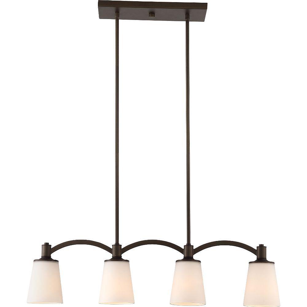 Filament Design 4-Light Forest Bronze Trestle
