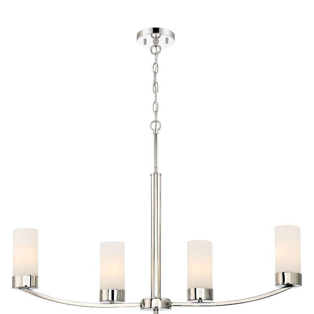 Filament Design 4-Light Polished Nickel Pendant - 34 inch