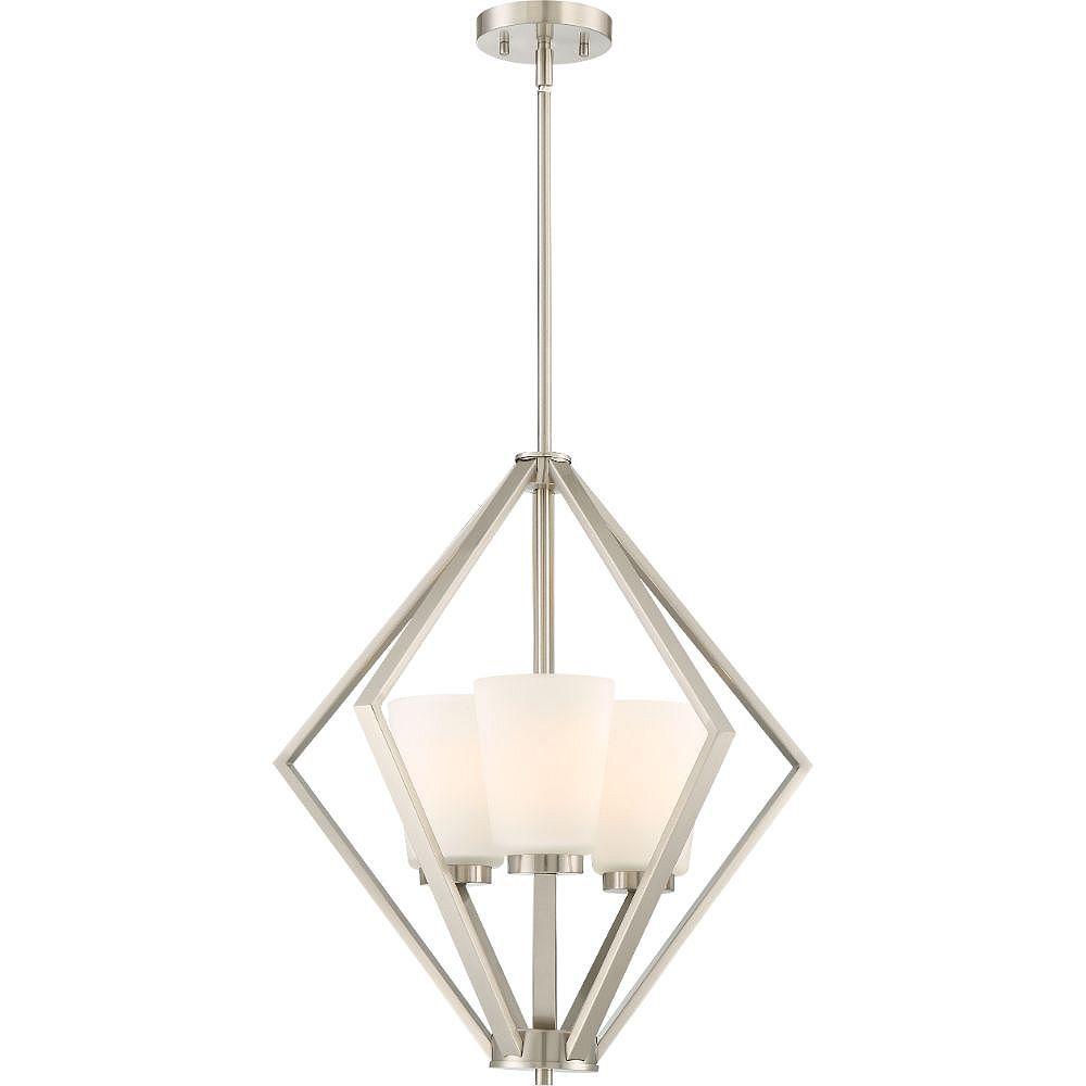 Filament Design 3-Light Brushed Nickel Pendant - 22 inch