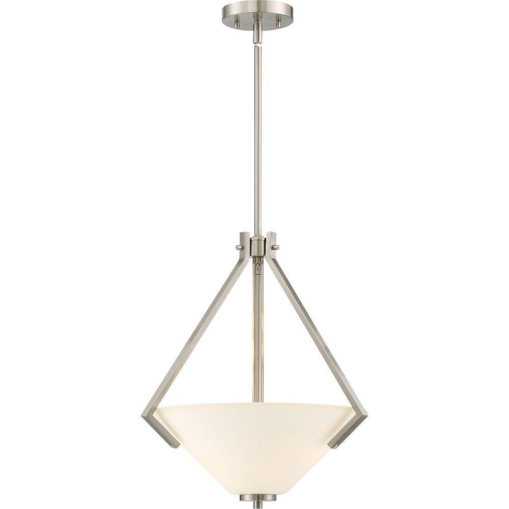Filament Design 2-Light Brushed Nickel Pendant - 18 inch