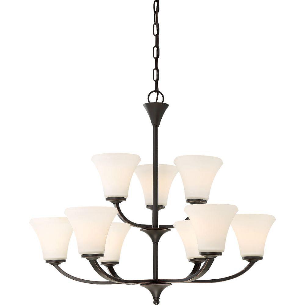 Filament Design Lustre à 9 ampoules en bronze acajou - 26 pouces