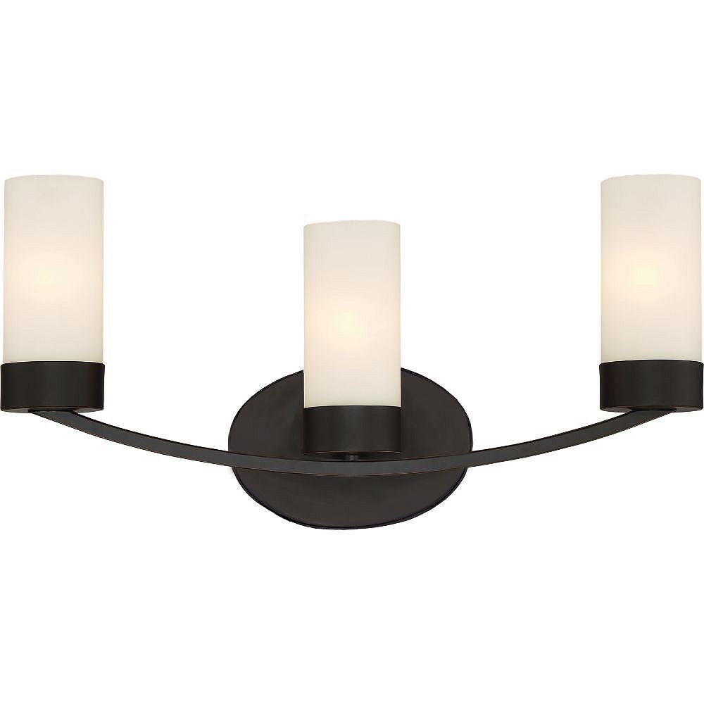 Filament Design Applique de salle de bain à 3 ampoules au fini bronze acajou - 21,25 pouces