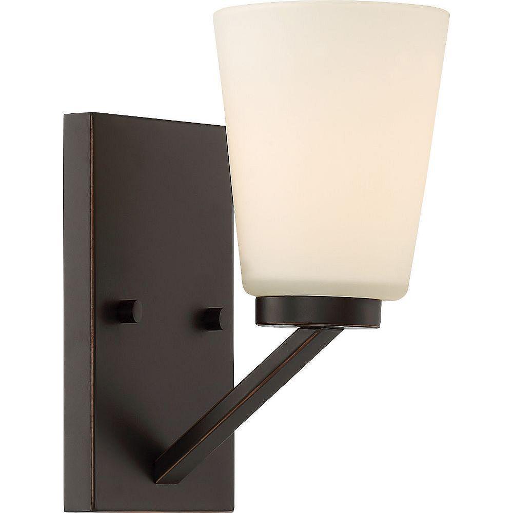 Filament Design Applique murale à 1 ampoule en bronze acajou - 4,75 pouces
