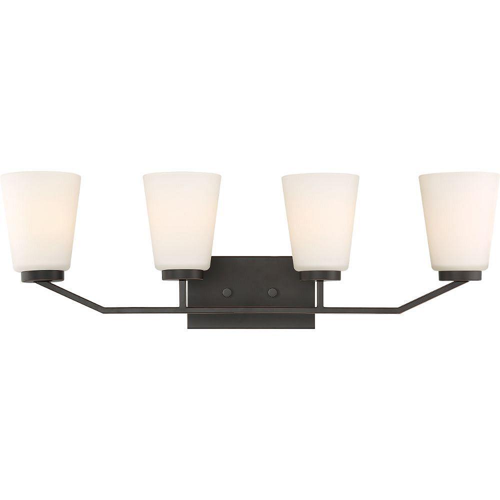 Filament Design Luminaire de vanité de salle de bain à 4 ampoules en bronze acajou - 9,25 pouces