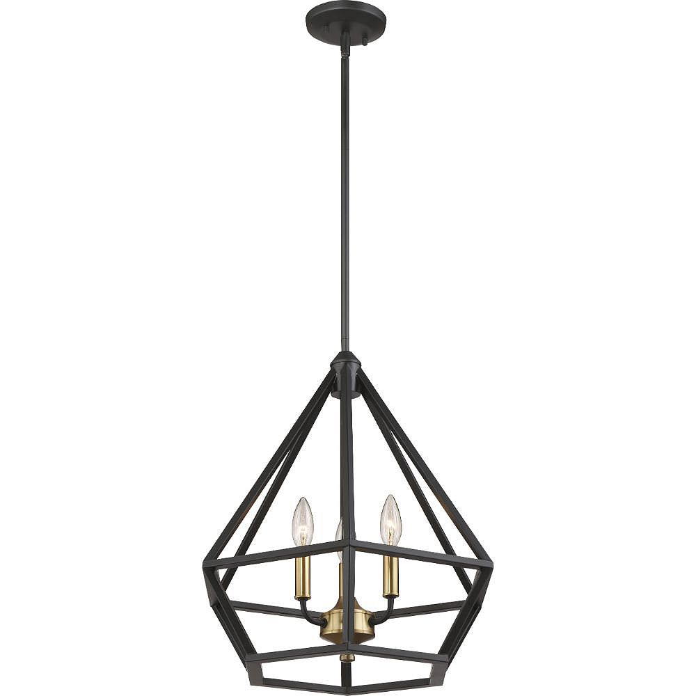 Filament Design 3-Light Aged Bronze and Brass Accents Pendant