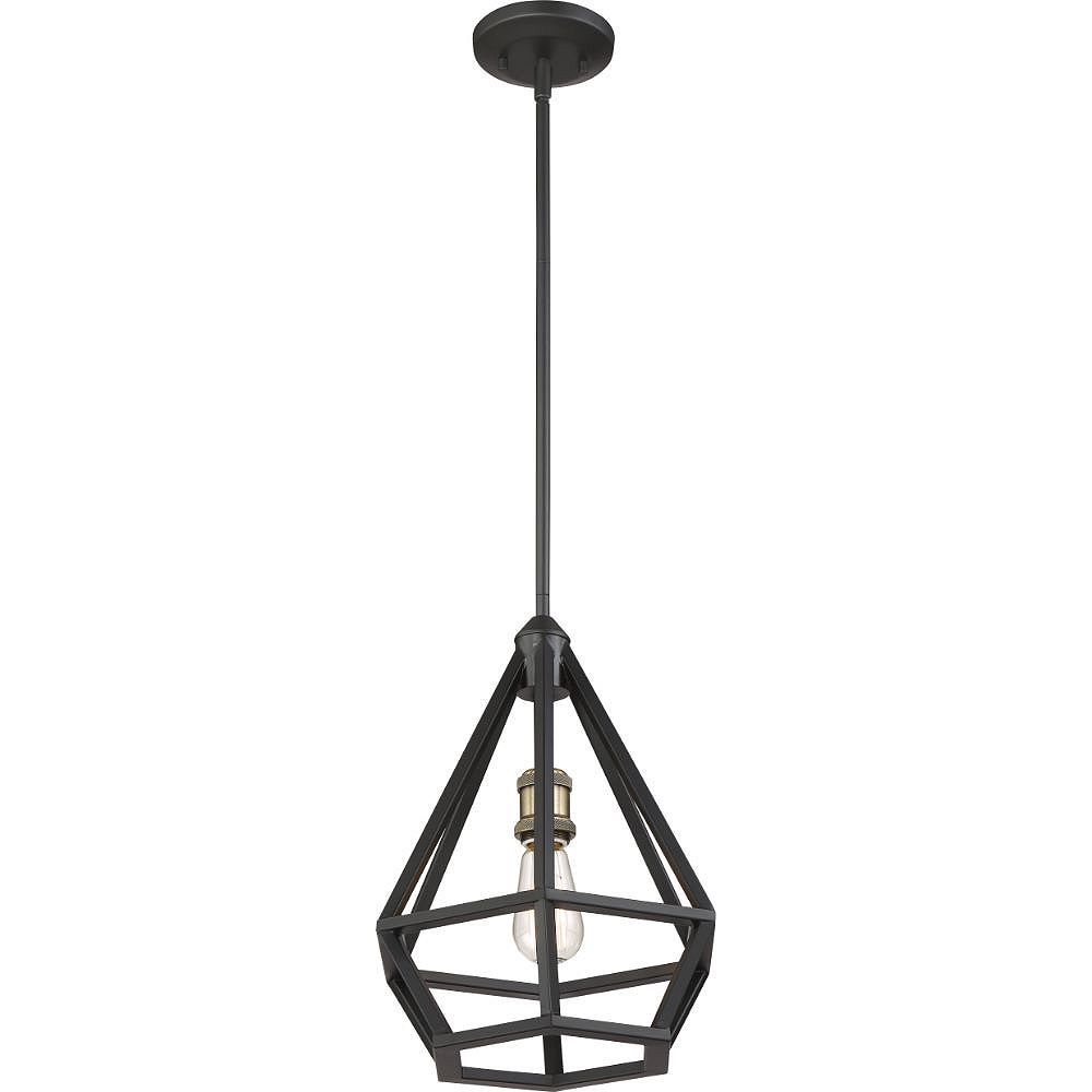 Filament Design 1-Light Aged Bronze and Brass Accents Pendant