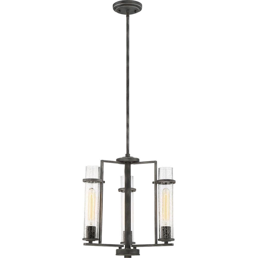 Filament Design Lustre en fer noir à 3 ampoules