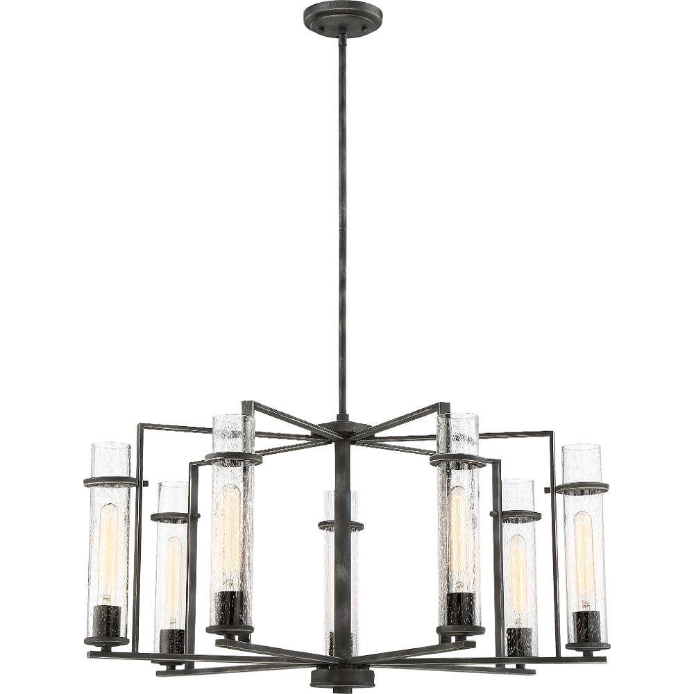 Filament Design Lustre en fer noir à 7 ampoules