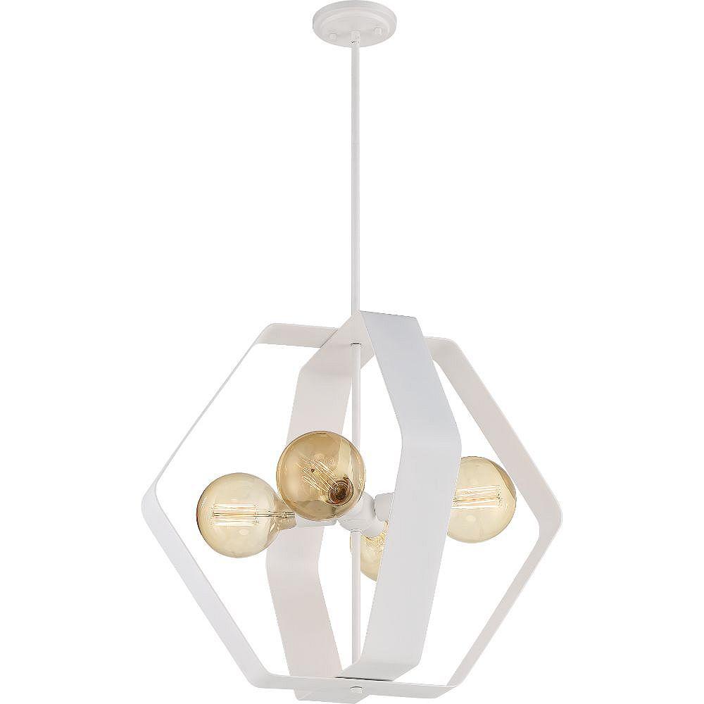 Filament Design 4-Light White Pendant - 59 inch