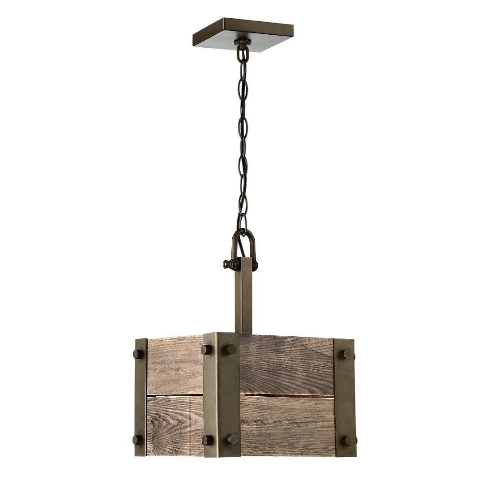 Filament Design Luminaire suspendu à 1 ampoule en bronze
