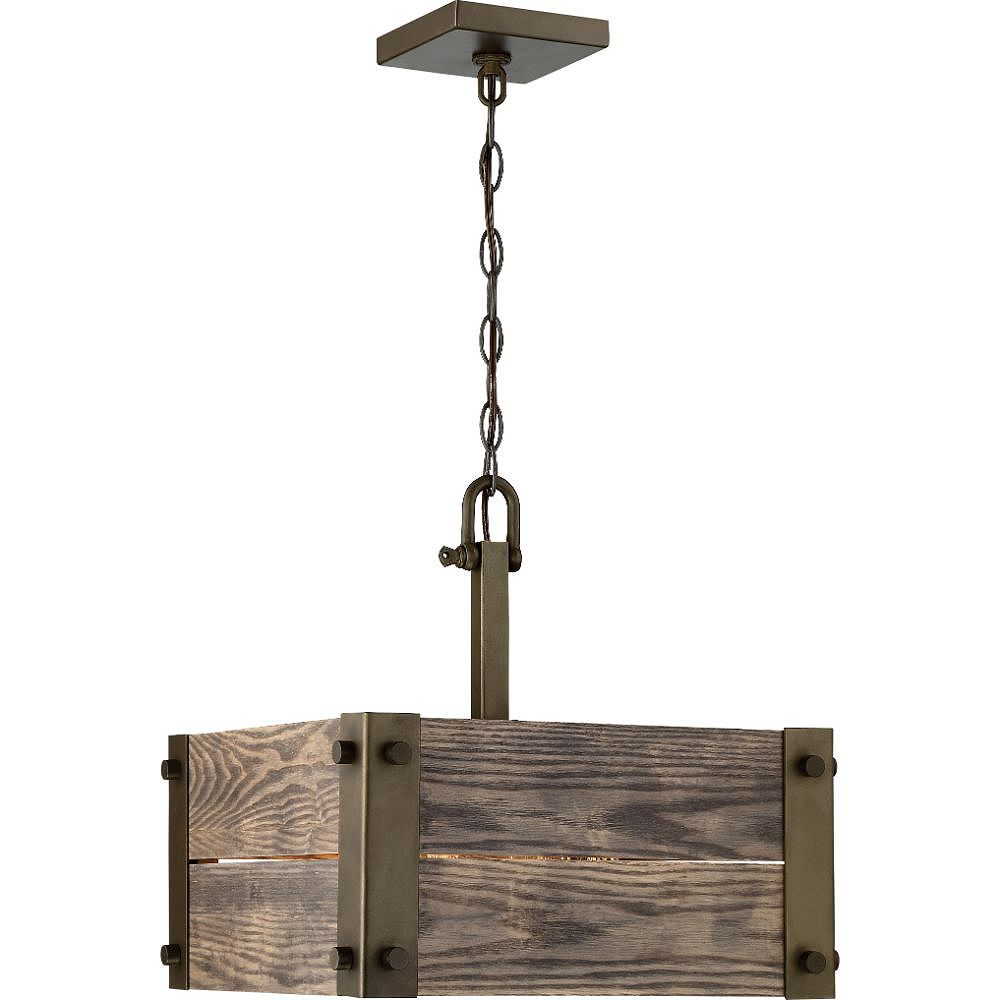 Filament Design Luminaire suspendu à 4 ampoules en bronze - 15 pouces