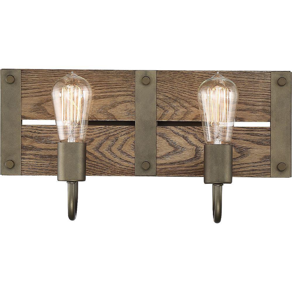 Filament Design Lumière de vanité de salle de bain bronze à 2 ampoules