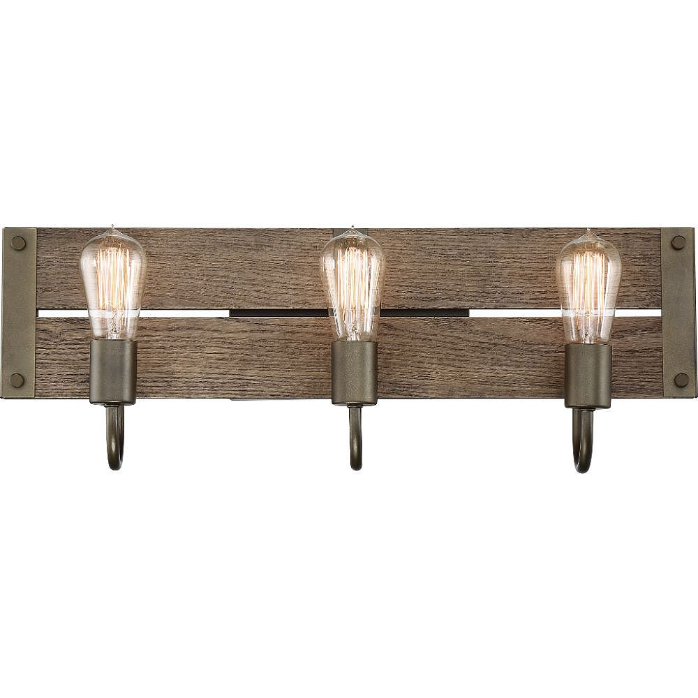 Filament Design Vanité de salle de bain bronze à 3 ampoules
