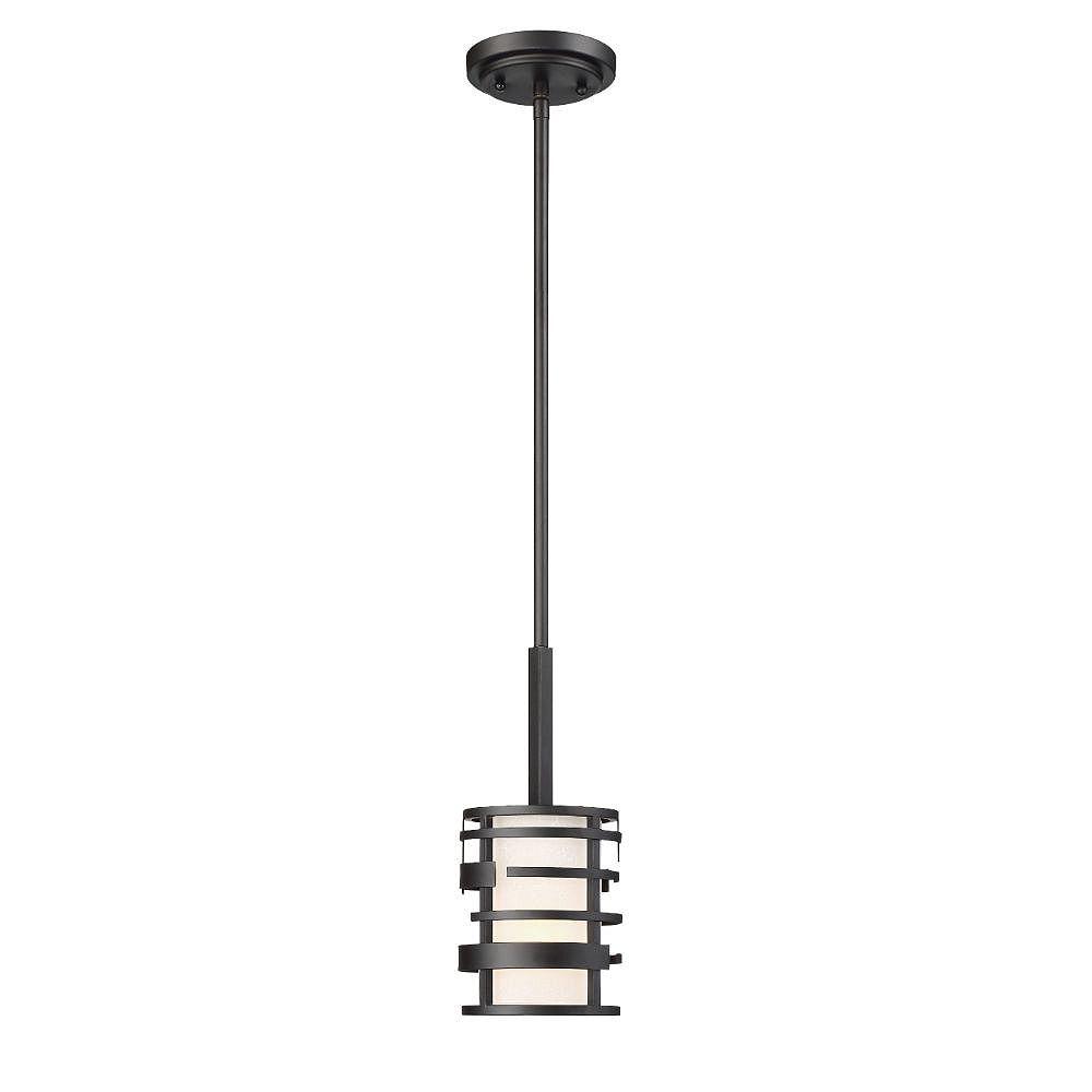 Filament Design Luminaire suspendu noir à 1 ampoule - 5,25 pouces