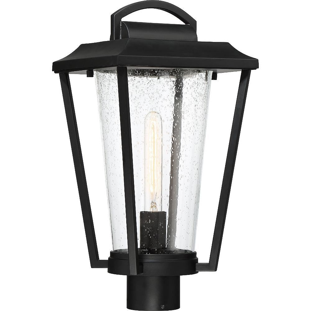 Filament Design 1-Light Aged Bronze and Clear Outdoor Post Lantern