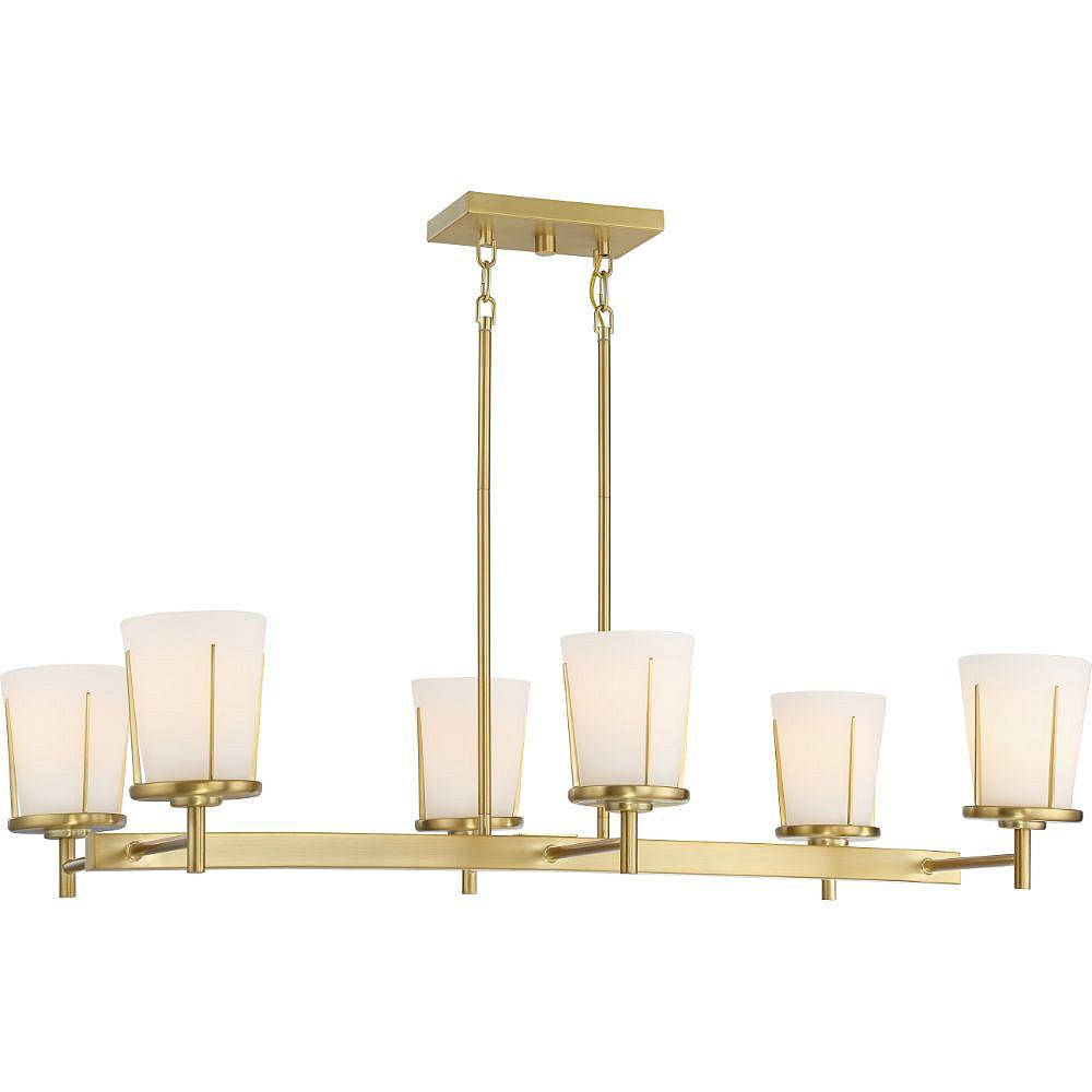 Filament Design 6-Light Natural Brass Pendant