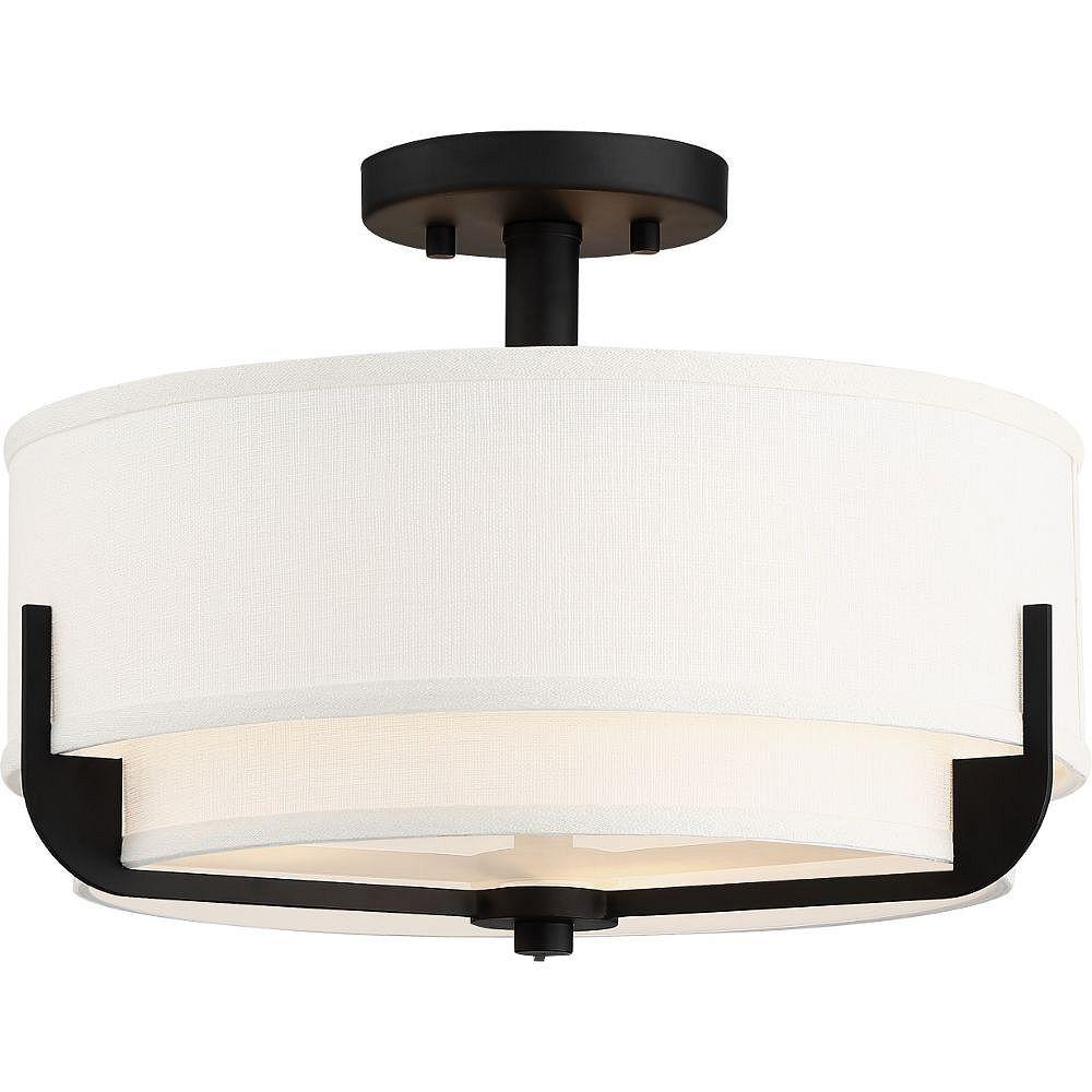 Filament Design Semi-plafonnier à 3 ampoules en bronze vieilli - 15 pouces