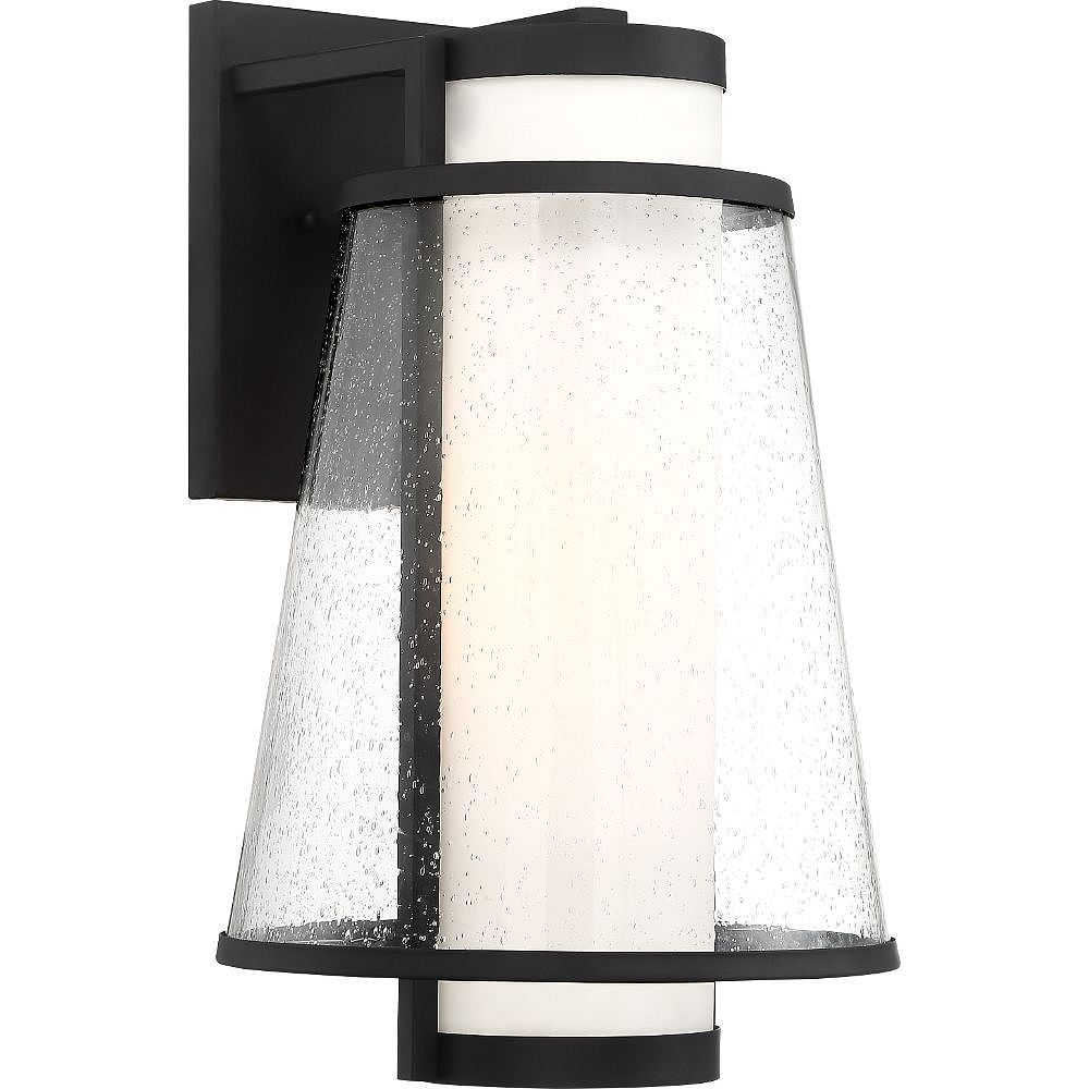 Filament Design Lanterne murale d'extérieur à 1 ampoule noir mat et verre - 11 pouces