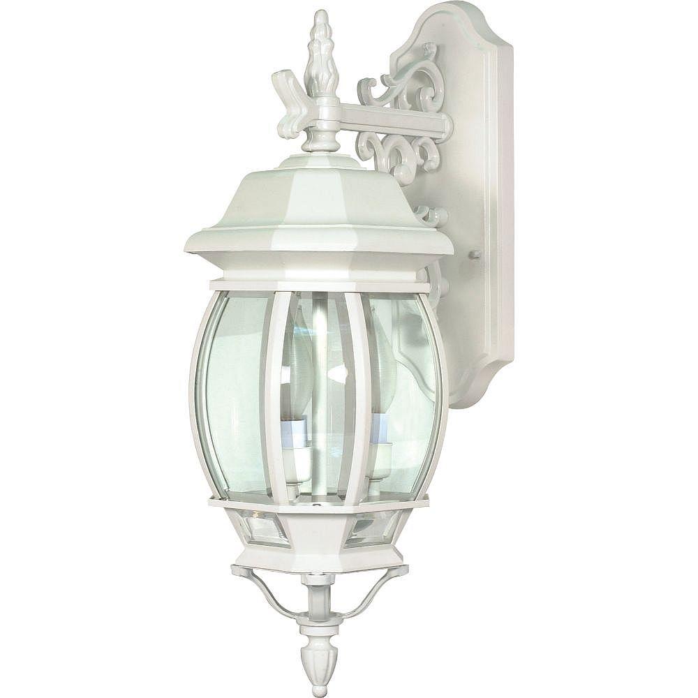 Filament Design Applique murale d'extérieur à 3 ampoules, blanc - 22,75 pouces