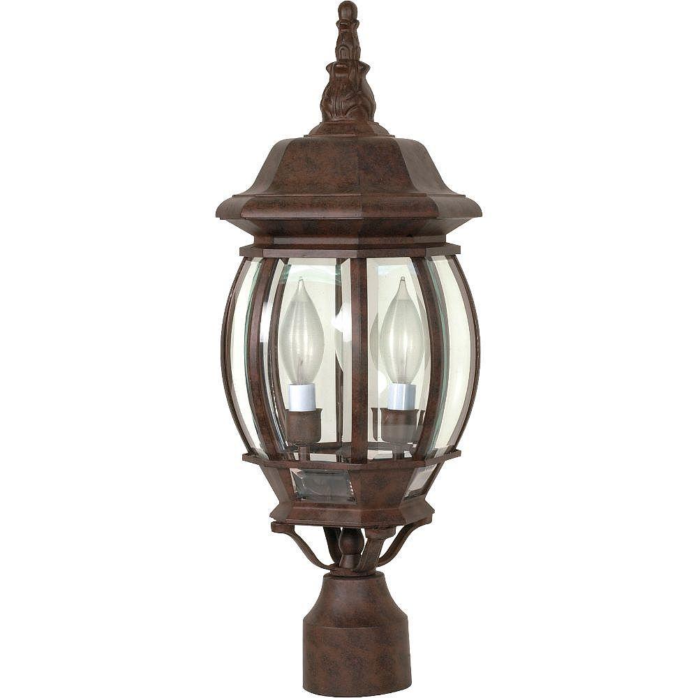 Filament Design 3-Light Old Bronze Outdoor Post Lantern