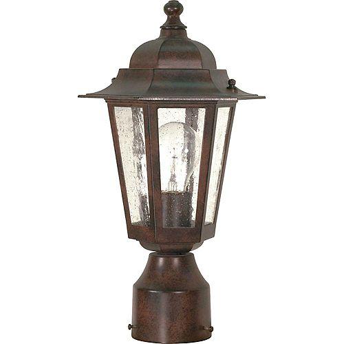 Lanterne d'extérieur à 1 ampoule bronze antique - 7 pouces