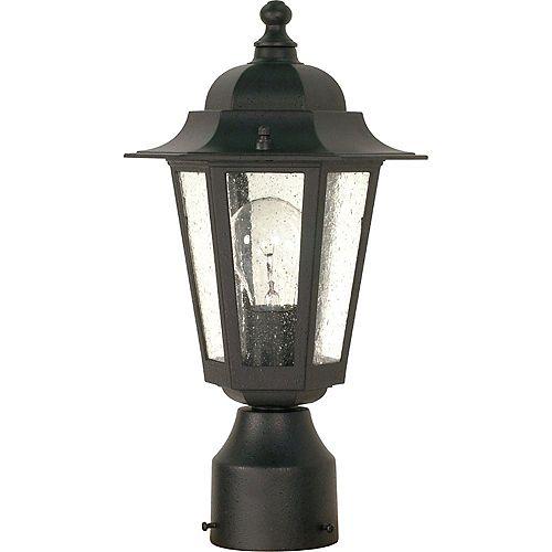 Lanterne d'extérieur à 1 ampoule texturée noire - 7 pouces