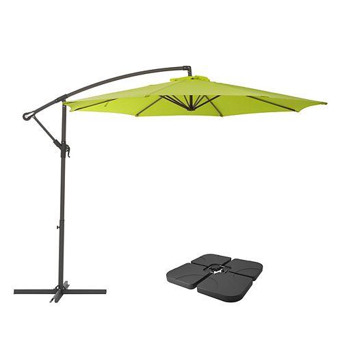 CorLiving PPU-440-Z1 Masses de base et de parapluie de patio vert lime résistant aux UV de 9,5 pieds