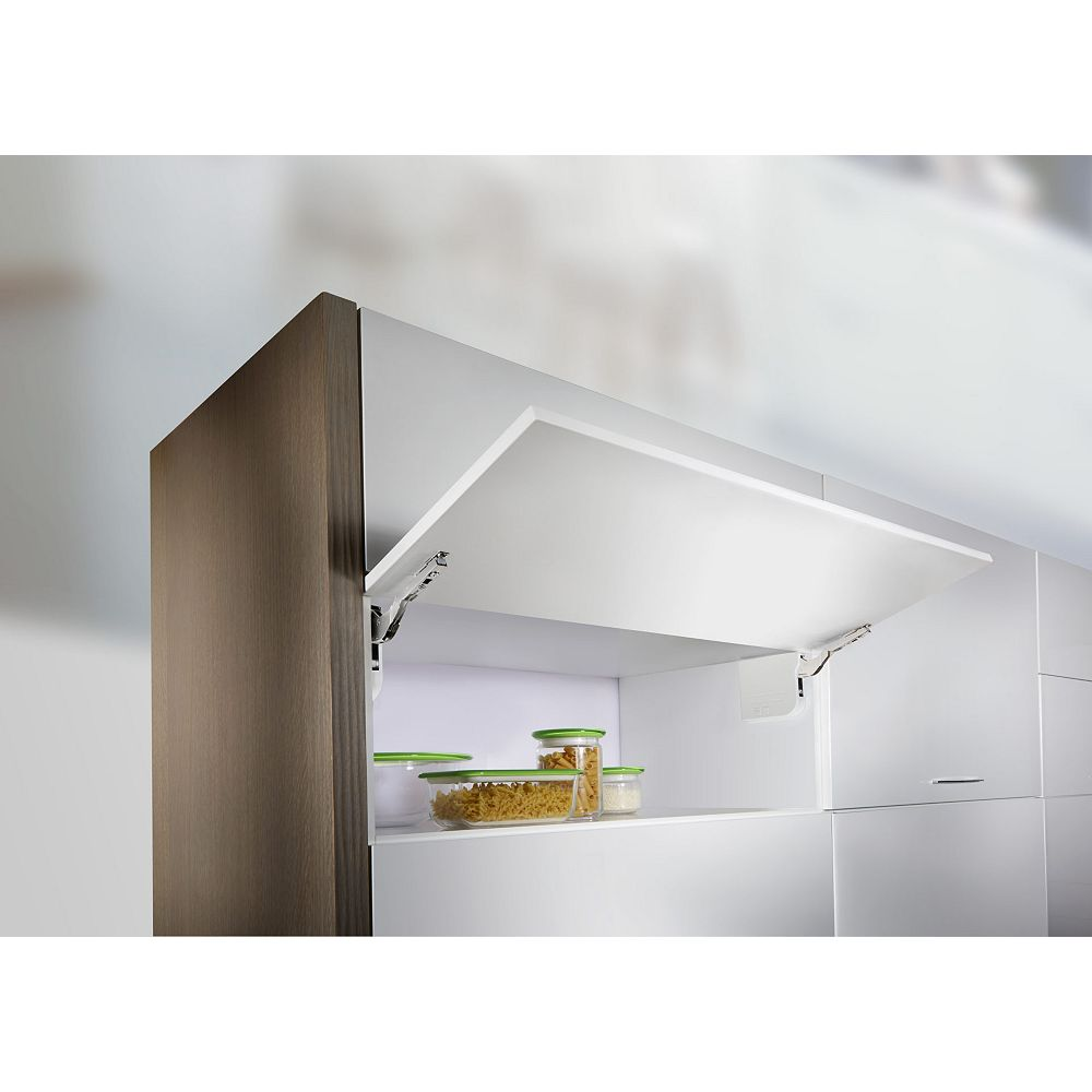 Richelieu (1-paire), Aerobus, Lift Up opening system, Robuste, Fermeture amortie, Blanc