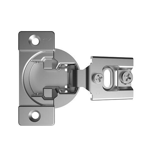(Pack of 2) +105° RFF Series - Compact Hinge , Screw-On, 1/2 in Overlay, Spring Closure