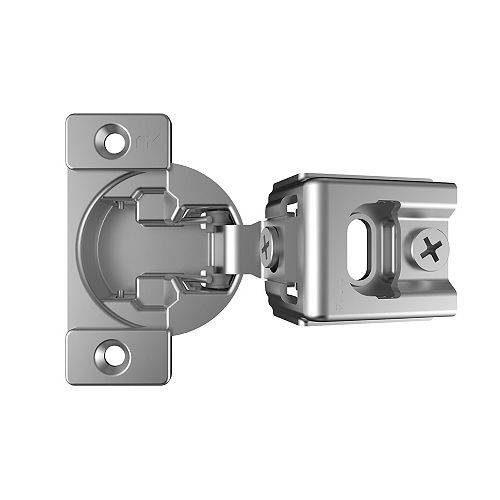 Richelieu (Pack of 2) +105° RFF Series - Compact Hinge , Screw-On, 1 1/4 in Overlay, Spring Closure