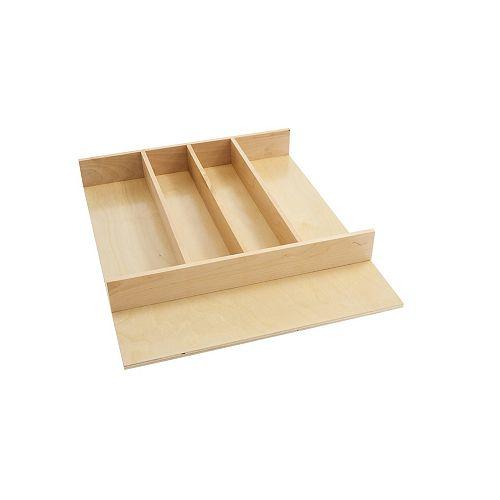 18 1/2 in (470 mm) Wood Kitchen Utensils divider to insert in a drawer  - Maple