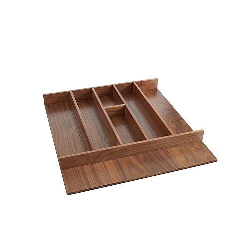 24 in (610 mm) Wood  Kitchen Utensils divider to insert in a drawer  - Walnut
