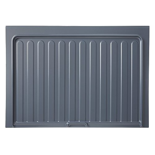 34 1/2 in (876 mm) Under sink cabinet protection tray - Silver gray color