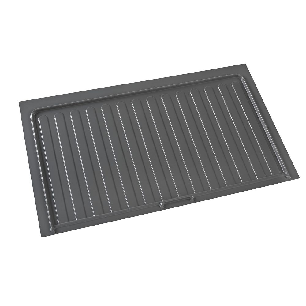 Rev A Shelf 40 1 2 In 1028 Mm Under Sink Cabinet Protection Tray Orion Gray Color The Home Depot Canada