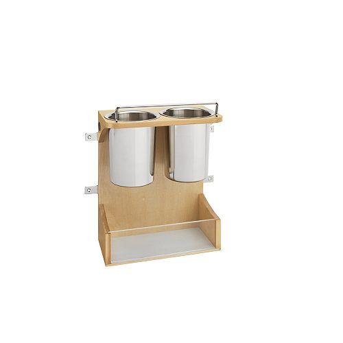 10 3/4 in (273 mm) Vanity Door Storage Appliances Rack - Maple