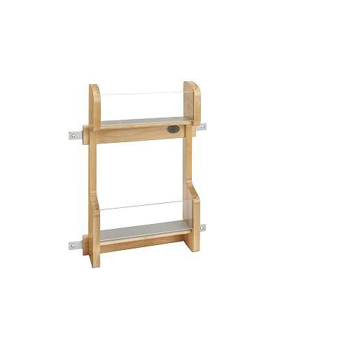 11 1/4 in (286 mm) Vanity Door Mount Storage Rack - Maple