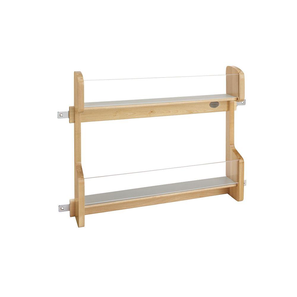 Rev-A-Shelf 20 1/4 in (514 mm) Vanity Door Mount Storage Rack - Maple