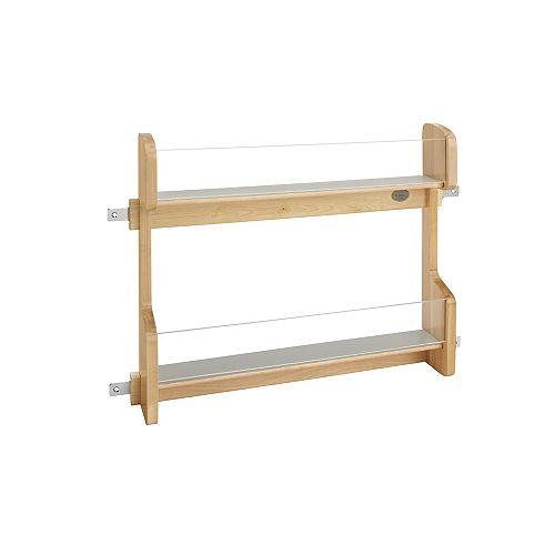 20 1/4 in (514 mm) Vanity Door Mount Storage Rack - Maple